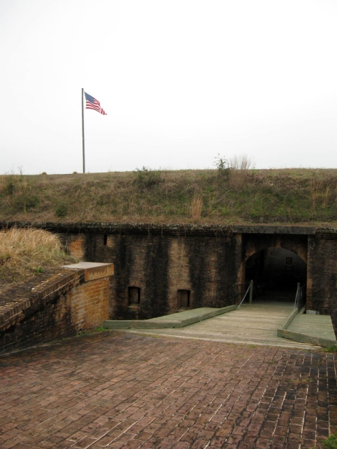 Photo by H.S. Cooper © Fort Barrancas drawbridge